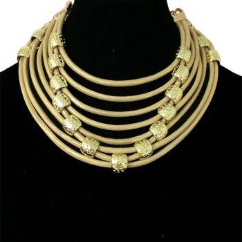 Collar Kayan dorado Alejandra Valdivieso #MeEncantaAV MAXICOLLAR