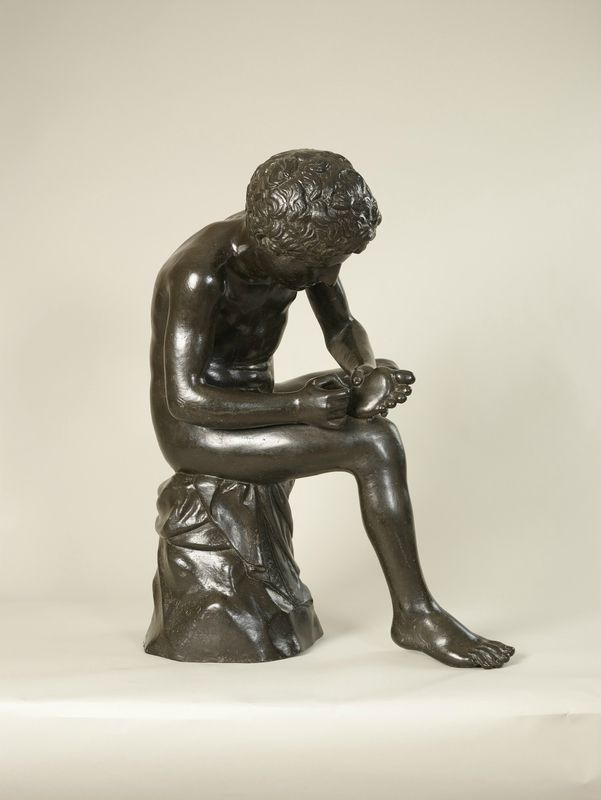 Hubert Le Sueur (c. 1580-1658), Boy with a thorn in his foot, 'Spinario', 1636-37. Bronze, 78.0 x 53.0 x 60.0 cm (whole object) | RCIN 26319. Royal Collection Trust / © Her Majesty Queen Elizabeth II 2016.