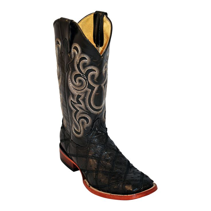 Show your exquisite style in premium quality, handcrafted western footwear from Ferrini. These authentic western Ostrich Patchwork Foot mens cowboy boots feature a all leather shaft and all leather sh