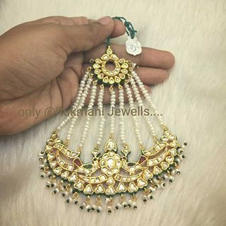 #traditional #jadau #kundan #mughal bird #jhoomar #paasa only @ #rukmanijewells  #silver based with #goldmicronplated with #highquality #semiprecious #stones & #freshwaterpearls #piroi  #indianwedding #indianbride #punjabibride #bandbaajabride #sabyasachibride  For more details enquiry please call or whatsapp on +919327027130 Shipping worldwide available.