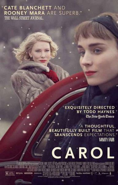 A great movie poster for the 2016 film Carol starring Cate Blanchett and Rooney Mara! Ships fast. 11x17 inches. Need Poster Mounts..?
