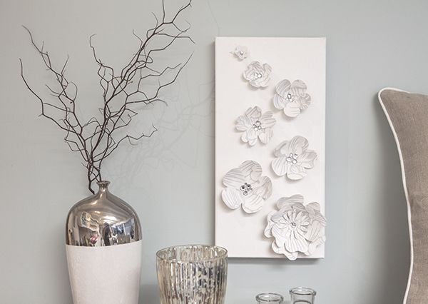 Diy Paper Flowers Wall Art : Paper flower wall art diy decor and shelving