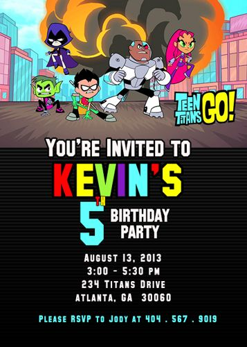 27 Best Teen Titans Birthday Party Ideas, Decorations, And -7177