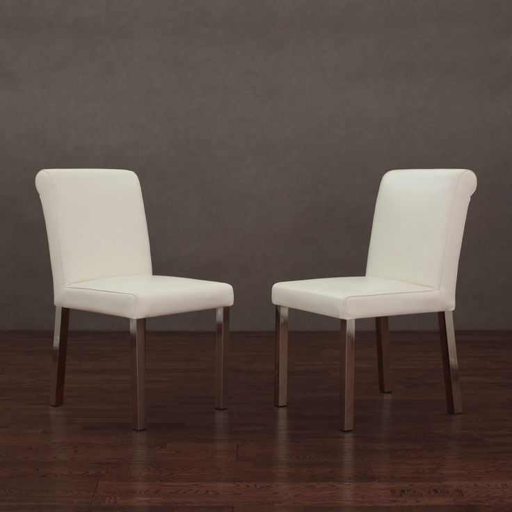 25+ Best Ideas About White Leather Dining Chairs On
