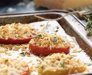 Piave Heirloom Tomatoes Au Gratin with Tre Stelle® Piave Cheese #piave #tomatoes