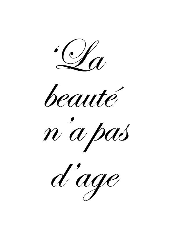 'Beauty has no age' Bien assure !
