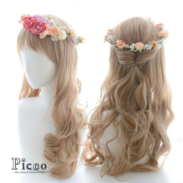 "Gallery 101-1 Order Made Works Flower Crown Style Hair Accessory for SOTSUGYO-SHIKI By ""Picco"" http://picco-flower.com #華奢 な #小花 の #花冠 #髪飾り #卒業式 #結婚式 #ブライダル #ウェディング にも #flowercrown #custommade #original #hair #hairdo #dress#antique #bridal #party #event #headdress #花嫁 #ヘアアレンジ #オリジナル #ピッコ #picco #ヘアアクセサリー #パーティー #ドレス #ハレの日 #101"