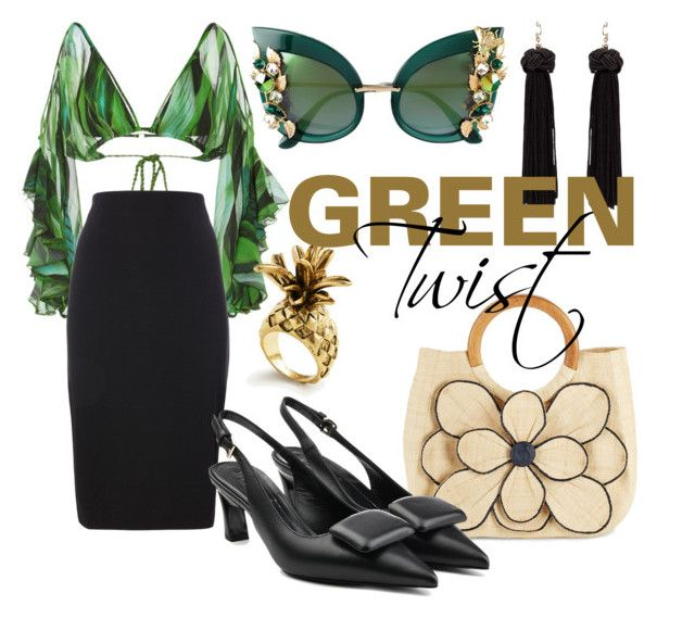 Green twist by illetilmote on Polyvore featuring Água de Coco, Marni, Mar y Sol, Ann Taylor and Dolce&Gabbana
