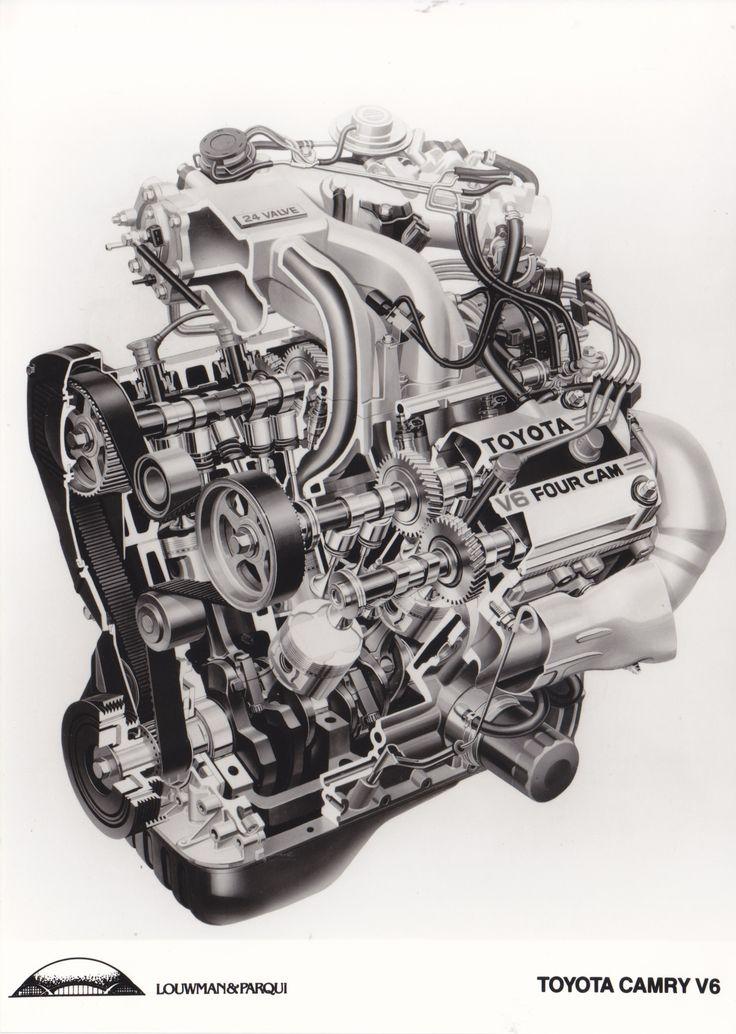 Toyota Camry V6 engine (importer photo, NL)