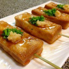 もっちもっちの高野豆腐の揚げ出し豆腐