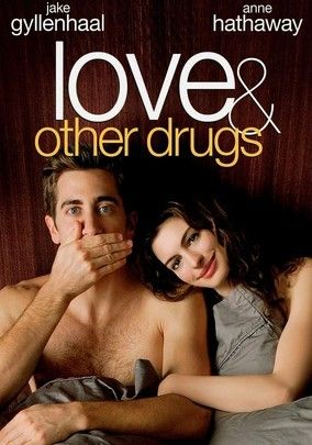 Love and Other Drugs (2010) Pharmaceutical representative Jamie Randall (Jake Gyllenhaal) becomes a player in the big game of male-performance-enhancement-drug sales and, along the way, finds unexpected romance with a woman (Anne Hathaway) suffering from Parkinson's disease. Based on the real-life Jamie Reidy's memoir, Hard Sell: The Evolution of a Viagra Salesman_;, this satirical look inside the culture of Big Pharm is directed by Edward Zwick.