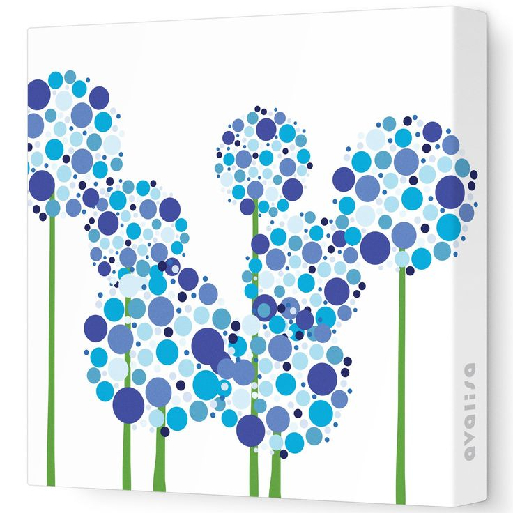 {Wall Art!} Allium Imagination Stretched Wall Art.