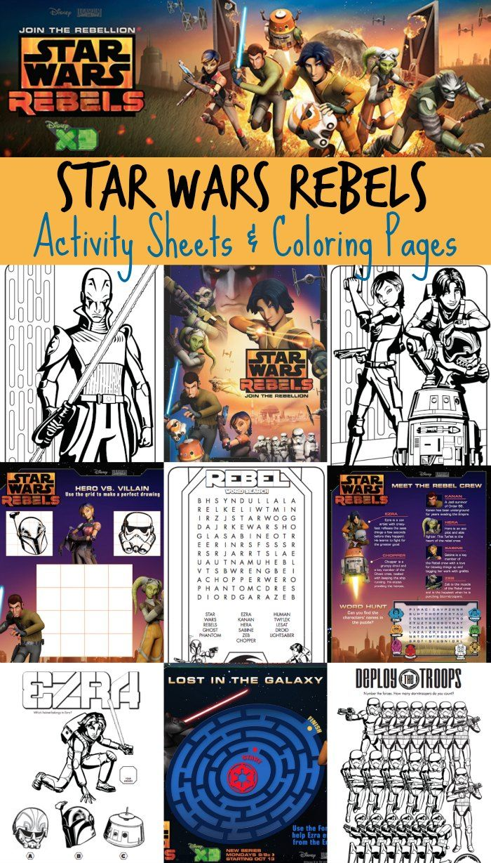 FREE Star Wars Rebels Activity Sheets & Coloring Pages #StarWars