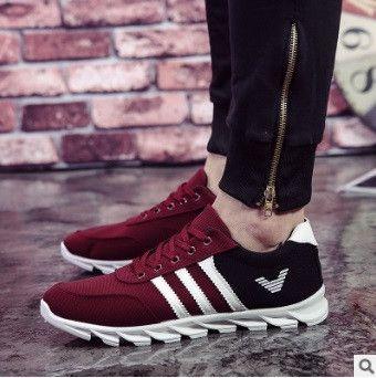 zapatillas de deporte de los hombres men fashion sport and outdoor shoes male cool breathable lace up shoes man casual shoes