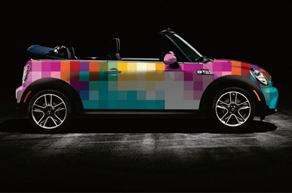 Mini Cooper car wraps by The Cool Hunter.