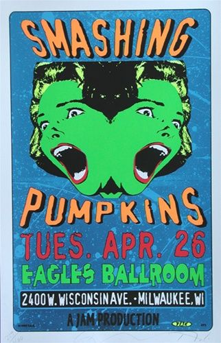 Smashing Pumpkins Original Classic rock music concert psychedelic poster ~ ☮~ღ~*~*✿⊱  レ o √ 乇 !! ~