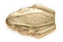 Haigh's Chocolates Milk Super Frog 375g of solid premium milk chocolate in gold foil.