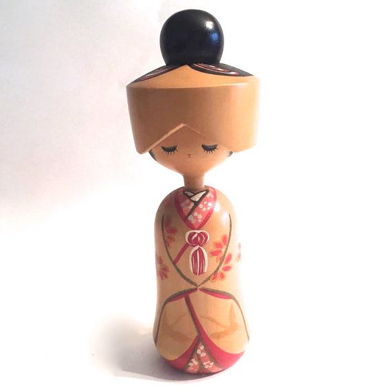 Vintage Kokeshi Doll by HippyHappyShop on Etsy