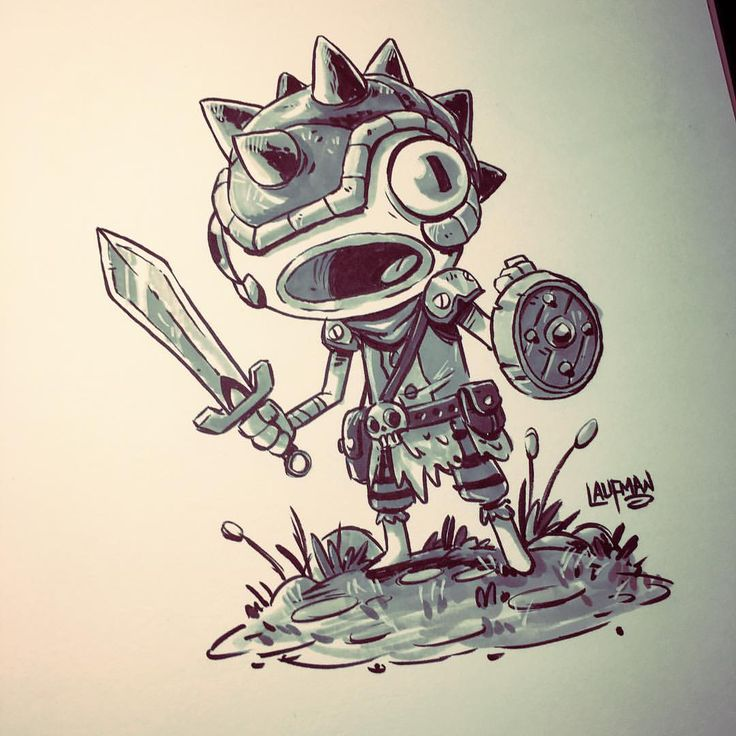 Inktober Day 26 - Fish Face - A character design for RuinWorld. Check out the comic at www.facebook.com/ruinworld #indiecomics #characterdesign #promarker #ruinworld #inktober2016 #inktober #brushpen #brushmarker #dereklaufman