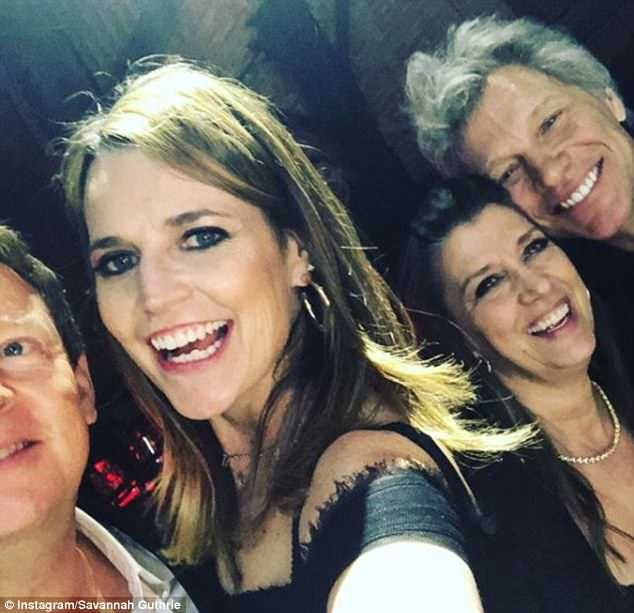 Savannah Guthrie Parties With Jon Bon Jovi At Rock Roll Hall Of Fame Induction Daily Mail Online In 2020 Bon Jovi Jon Bon Jovi Savannah Guthrie