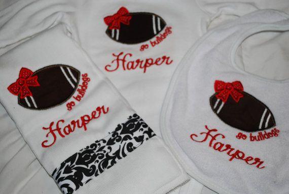 UGA / Georgia Bulldogs Newborn Baby Girls Gift by PinkDoorDesigns, $32.00