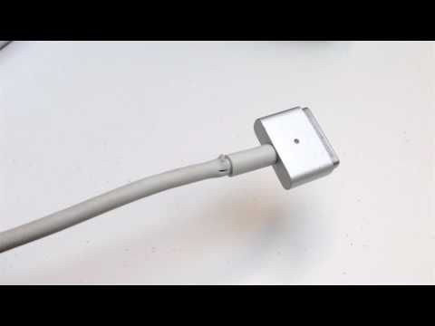 MagSafe 2 Power Adapter Cord damage - YouTube