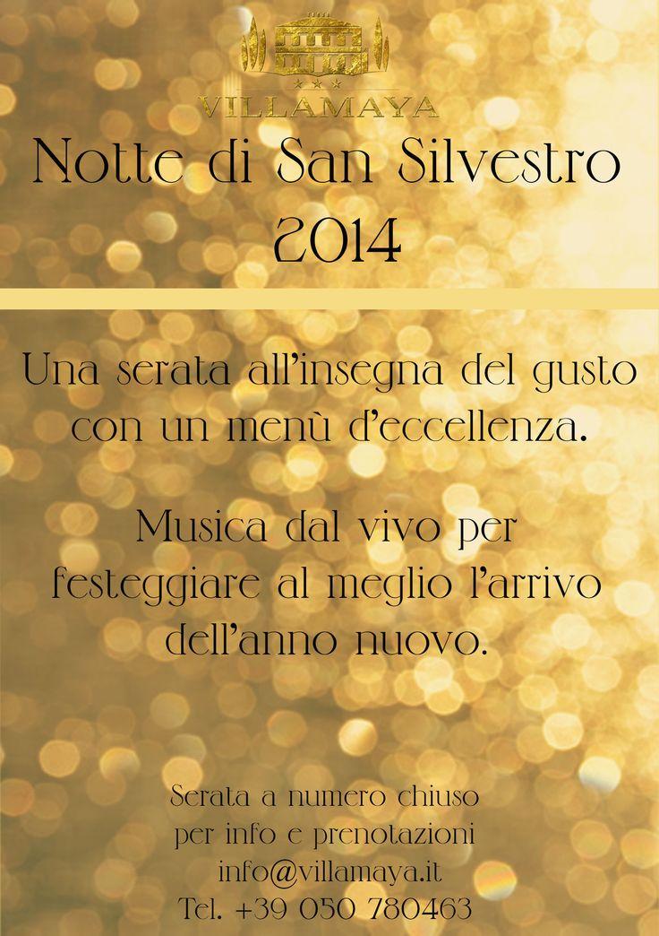 Gusti di Toscana consiglia..Cenone dagli amici di Villa Maya! #capodanno #festa #party #gusto #sansilvestro #musica