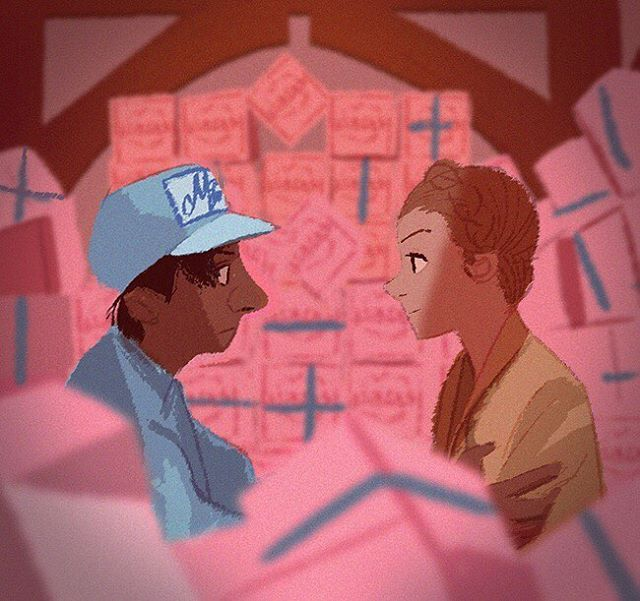 """WEBSTA @ hongsi84 - """"grand budapest hotel"""" speed painting 40minute.  #drawing #painting #animation #design #conceptart #illustration #그림 #characterdesign #doodle #couple #art #movie #character #love"""