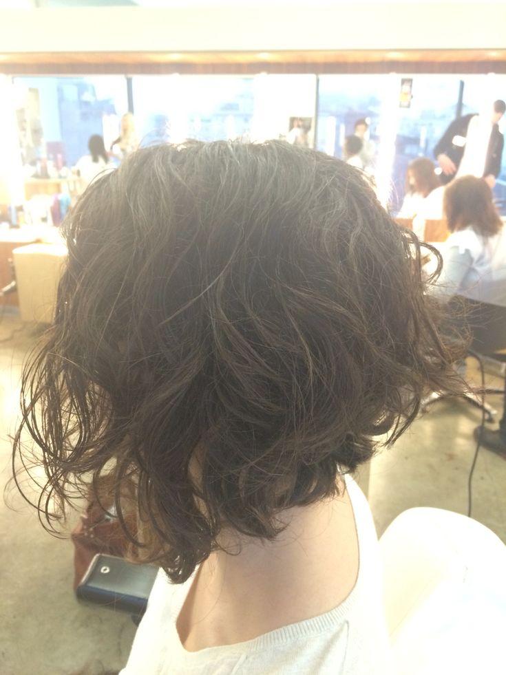 Curly A line bob