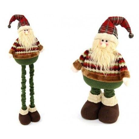 Decoración de Navidad. Papa Noel para decorar en Navidad, de tejido extensible, 95 cm de alto.