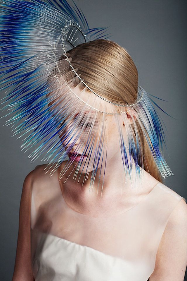 Beautiful headpiece by Maiko Takeda.