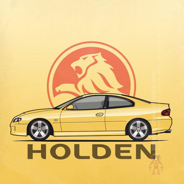 Holden Monaro (VZ) CV8 (2004–2005) by Monkey Crisis On Mars . #AussieCar #MuscleCar #GeneralMotors #Holden #Australia #Yellow