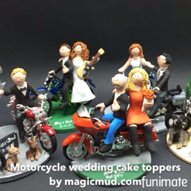 87 best Motorcycle Wedding Cake Toppers images on Pinterest