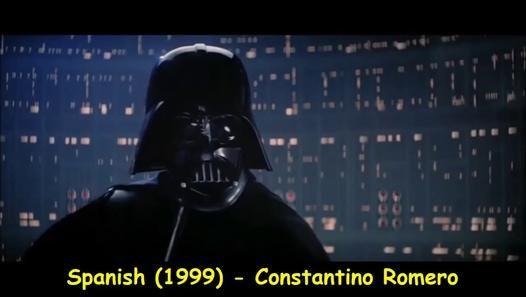"""Une compilation multi-langages de la phrase culte de Dark Vador lorsqu'il dit dans le film Star Wars, """"Je suis ton père"""" à Luke Skywalker. On découvre ainsi 20 version différentes de cet extrait, traduites et doublées dans plusieurs langues à travers le monde. Au total, il y 16 langues différentes qui sont l'anglais, l'espagnol, le portugais, l'allemand, le français, l'italien, le catalan, le tchèque, le hongrois, le russe, le chinois, le japonais, l'arabe, l'hébreu, le jisieno et le ..."""