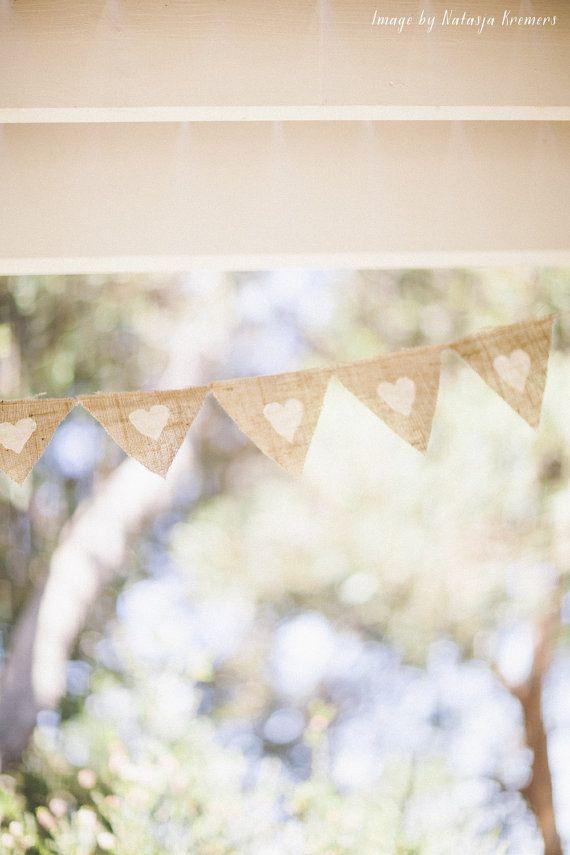 Rustic Romantic Wedding Hessian Bunting