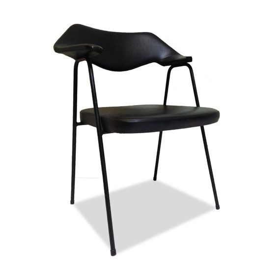 1950s Vinyl Chair Designed by Robin & Lucienne Day for Prefacto: Vintage Mid Century Modern Seating