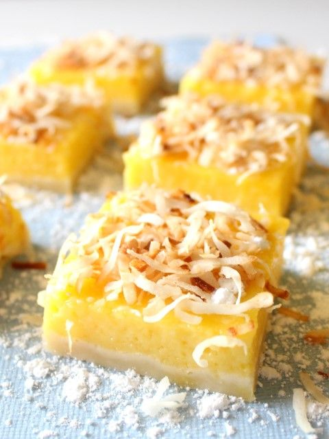 Mango Lemon Bars with Toasted Coconut have a delicious tropical flair which is perfect for parties! Bring this dish and watch it disappear!