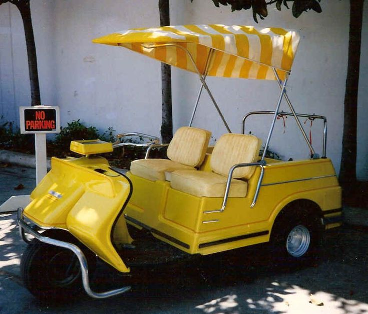 vintage golf cart oh my, looks like my friend Lugenes' old golf cart