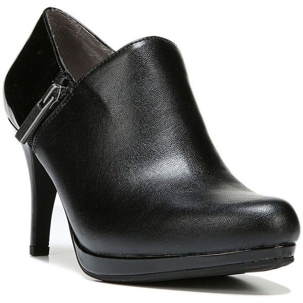 LifeStride Velocity Xalana Women's High Heel Ankle Boots ($45) ❤ liked on Polyvore featuring shoes, boots, ankle booties, black, wide ankle boots, black ankle boots, black booties, short black boots and black boots