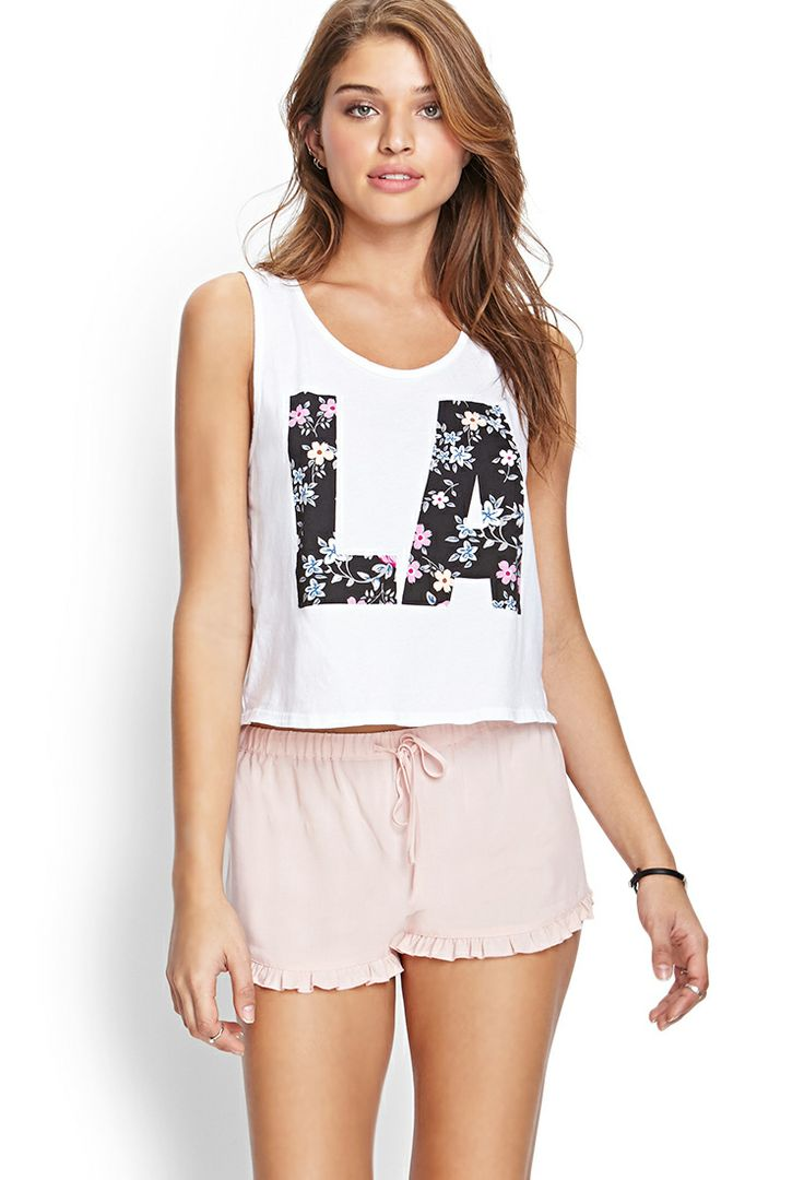 Ruffled Drawstring Shorts | FOREVER21 #F21FreeSpirit perfect & pretty for lounging ♡♥♡ #forever21