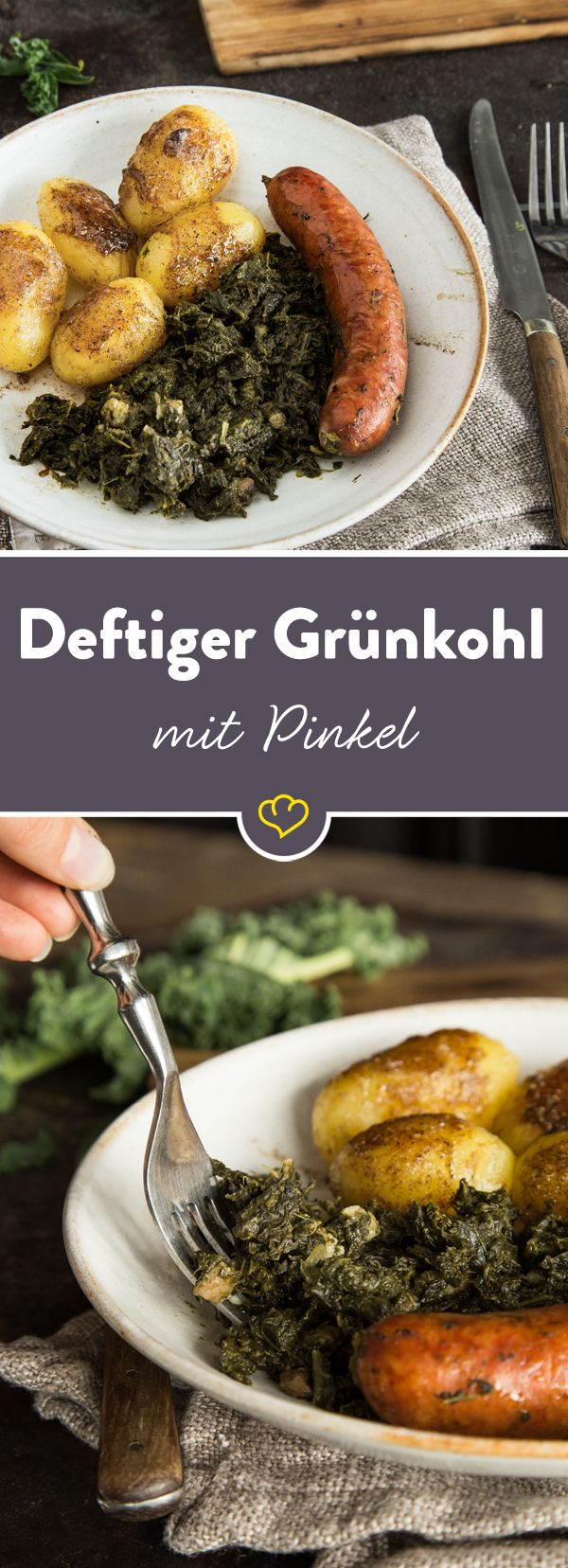 Norddeutschlands Kohlkönig? Eindeutig der Grünkohl. Nach dem ersten Frost wird er im Norden klassisch mit Pinkel und karamellisierten Kartoffeln verputzt.