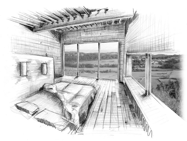 Wooden House And Workshop   Thibautmalet | ARCH | DRAWING | Pinterest | Wooden  Houses, Drawing Models And Architecture