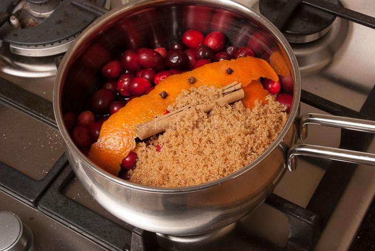 Deze cranberrysaus met een vleugje tropische kaneel, prikkelende kruidnagel, fruitige port en bitterzoete sinaasappel is voor mij het toppunt van kerstigheid! Je kunt de cranberrysaus direct warm serveren bij eenmooistukje vlees— bijvoorbeeld deze varkenshaas gevuld met brie—, gevogelte of wild, of laat de cranberrysaus helemaal afkoelen en serveer als dessert met een selectievan zachte, romige …