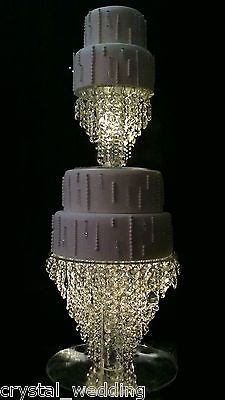 "Crystal Chandelier Wedding cake stand  Premium glass crystal : 6"" 8"" 10"" 12"" 14"""