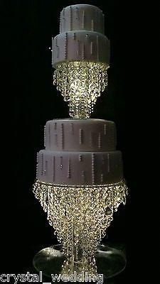 "Crystal Chandelier Wedding cake stand  Premium glass crystal : 6"" 8"" 10"" 12"" 14"""