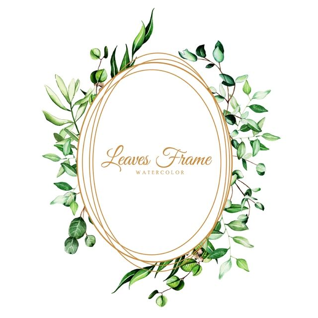 Beautiful Watercolor Leaves Frame Watercolor Color Colorful Png And Vector With Transparent Background For Free Download Watercolor Leaves Geometric Flower Elegant Frame