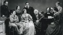 William and Blanche Gibbs with their family in the early 1860s