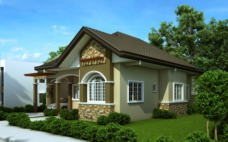 15 best images about one story house plans on pinterest for Small house exterior design philippines
