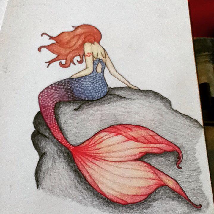 A mermaid drawing