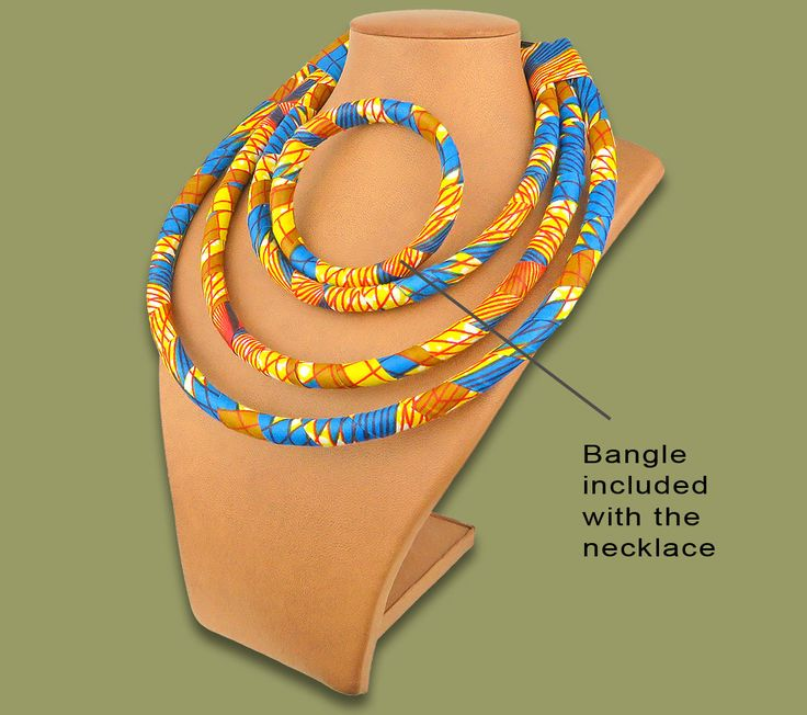 Necklace Bangle Set Fabric 3 In 1